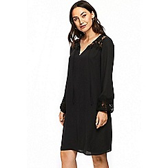 Wallis - Black lace insert shift dress