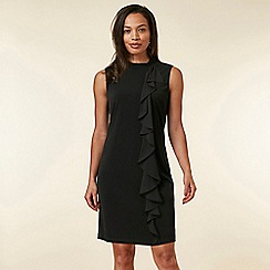 Wallis - Black Ruffle Shift Dress