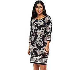 Wallis - Navy paisley border tunic dress