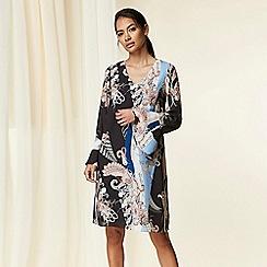 Wallis - Black Paisley Scarf Print Shift Dress