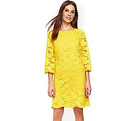 Wallis - Yellow lace shift dress