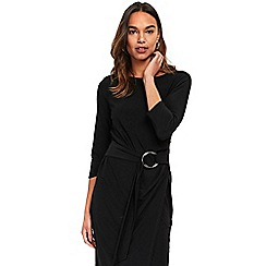 Wallis - Black ring shift dress