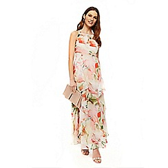 Wallis - Blush spring floral ruffle maxi dress
