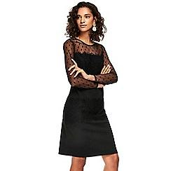Wallis - Black dobby lace shift dress