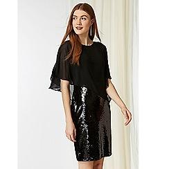 Wallis - Black sequin overlay dress