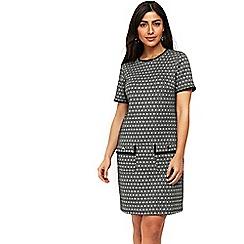 Wallis - Black jacquard shift dress