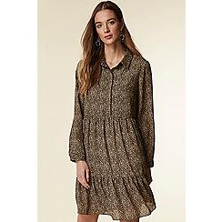 Wallis - Stone tiered animal shirt dress