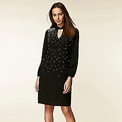 Wallis - Embellished twist neck shift dress