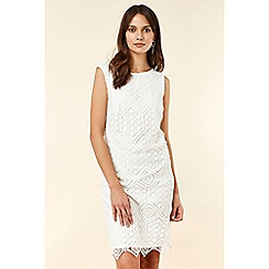 Wallis - Ivory Lace Shift Dress