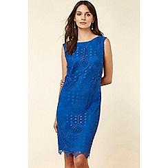 Wallis - Blue Lace Shift Dress