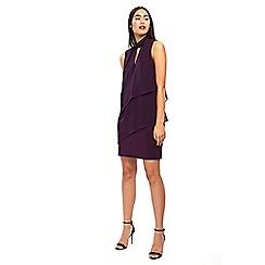 Wallis - Purple embellished neck tiered dress