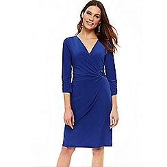 Wallis - Blue d- ring jersey dress