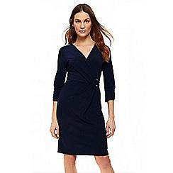 Wallis - Navy d-ring jersey dress