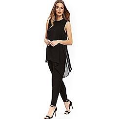 Wallis - Black embellished overlay jumpsuit