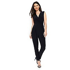 Wallis - Navy wrap tie jumpsuit