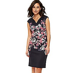 Wallis - Navy floral blossom dress