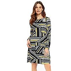 Wallis - Lime geometric shift dress