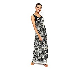 Wallis - Stone palm print maxi dress