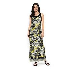 Wallis - Green palm print maxi dress