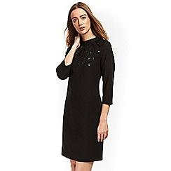 Wallis - Black embellished shift dress