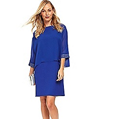 Wallis - Cobalt blue embellished cuff overlay dress