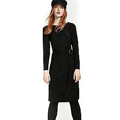 Wallis - Black ring ruched shift dress