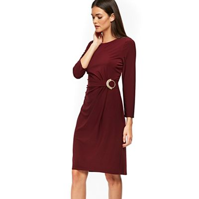 Wallis   Berry Ring Ruched Shift Dress by Wallis