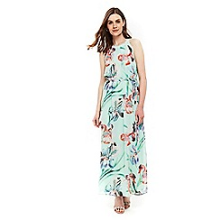 Wallis - Mint floral orchid maxi dress