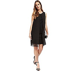 Wallis - Black embellished stud overlay dress