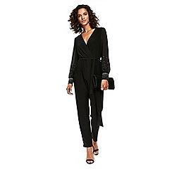 Wallis - Black hotfix sleeve jumpsuit