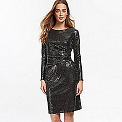 Wallis - Silver ruched side dress