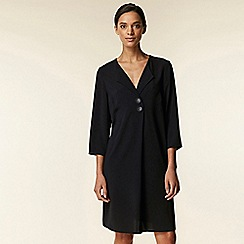 Wallis - Black collar button tunic dress