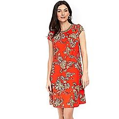 Wallis - Orange spiced paisley swing dress