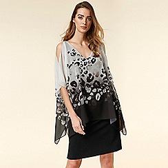 Wallis - Black Animal Overlay Dress