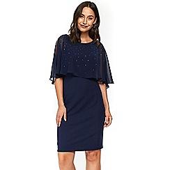 Wallis - Navy blue hotfix overlay dress