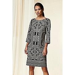 Wallis - Monochrome paisley print shift dress