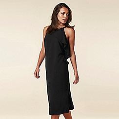 Wallis - Black Ruffle Neck Dress