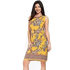 Wallis - Yellow spiced paisley pinafore dress