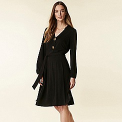 Wallis - Black button shirt dress