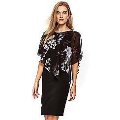 Wallis - Black floral print overlay dress