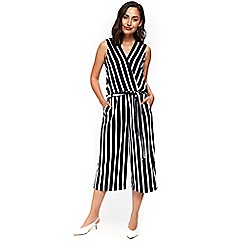 Wallis - Navy stripe jumpsuit