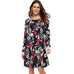 Wallis - Navy oriental print shift dress