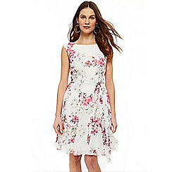 Wallis - Ivory blosson fit and flare dress