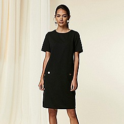 Wallis - Black 3/4 sleeve ponte dress