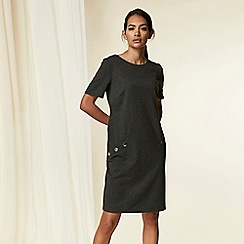 Wallis - Grey Short Sleeve Shift Dress