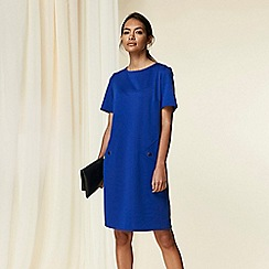 Wallis - Cobalt 3/4 sleeve ponte dress