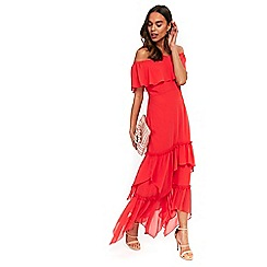 Wallis - Red ruffle tiered maxi dress