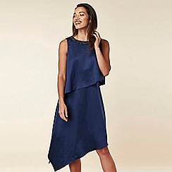 Wallis - Navy Embellished Layered Dress