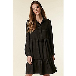 Wallis - Black tiered shirt dress