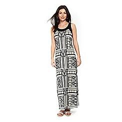 Wallis - Ivory patchwork maxi dress